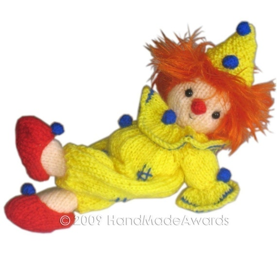 Little CLOWN Pdf Email KNIT PATTERN