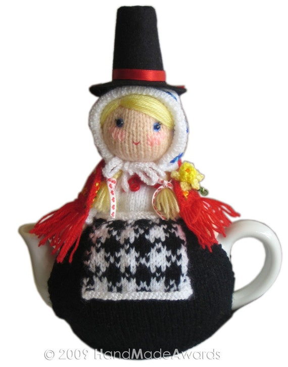 SAM from WALES Tea Cosy Pdf Email Knit PATTERN