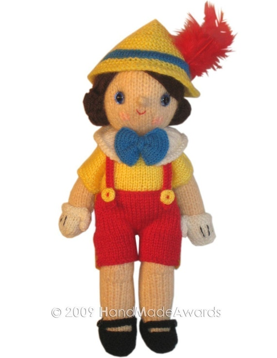 Adorable pinocchio pdf email knit pattern for Pinocchio hat template