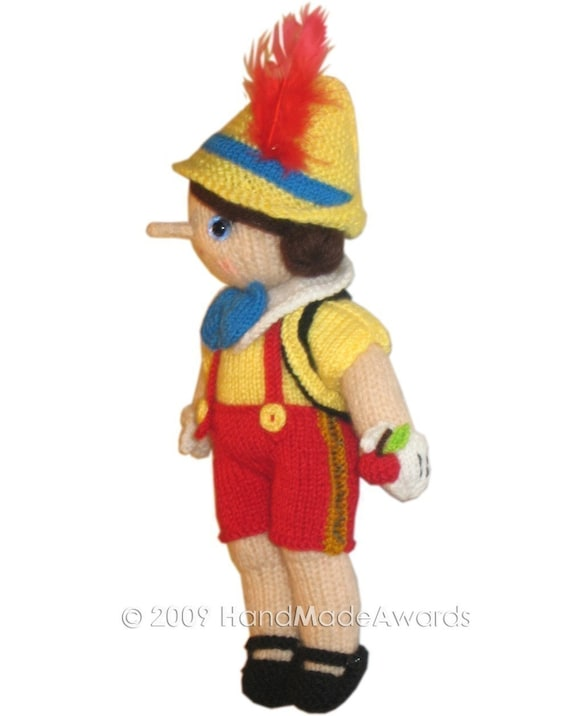 pinocchio hat template - adorable pinocchio pdf email knit pattern from