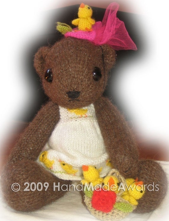 Lovely Coco BEAR and her Accessories PDF Email Knit PATTERN