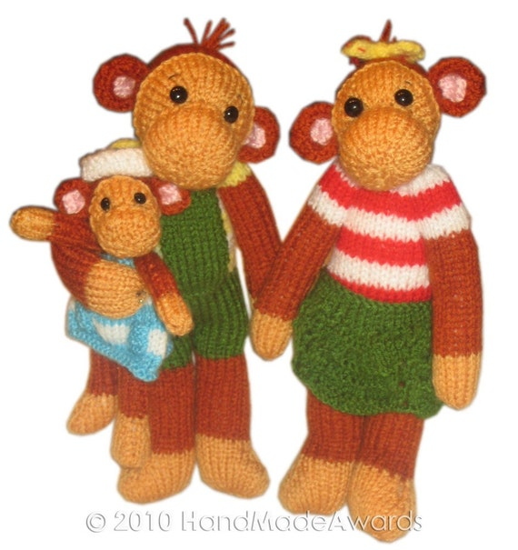 The Family Monkeys  PDF Email Knit Pattern