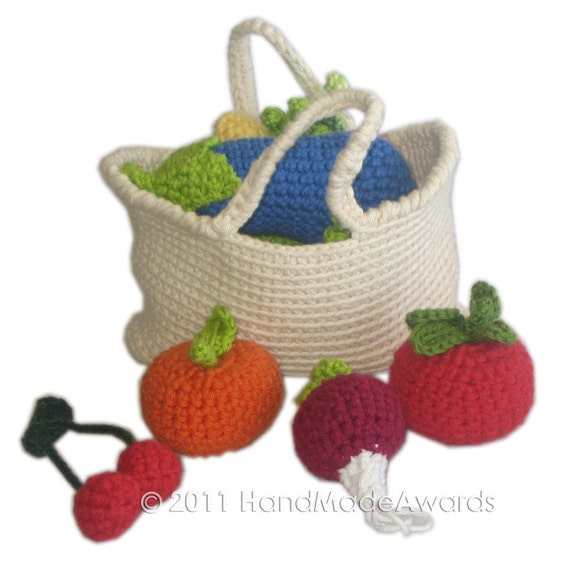 My Vegetables PDF Email CROCHET PATTERN