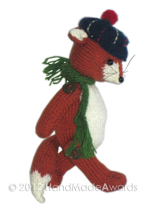 Morris the FOX PDF Email Knit PATTERN