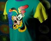 Vintage I Am Goofy Shirt Ladies Girls 80s Disney SMALL
