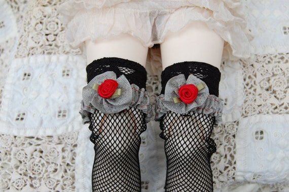 Dove gray garters for SD and EID dolls