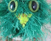 Fuzzy Green Hooter Owl Baby