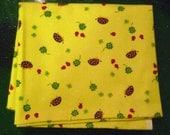 Kawaii Japanese Fabric Fat Quarter -- Yellow Hedgehogs