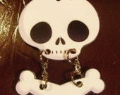 Skull and Crossbones Necklace Charm