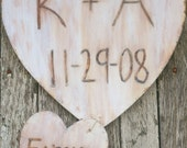 Personalized With Your Initials Wood Heart Wedding Sign Rustic Cinderella Renaissance Fairytale Woodland