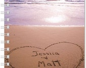 Personalized Wedding Guest Book Your Names Written In The Beach Sand