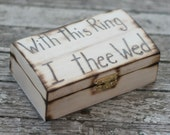 Rustic Ring Bearer Pillow Engraved Wood Box With This Ring I Thee Wed ORIGINAL Morgann Hill Designs