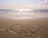Any Message You'd Like Written In The Beach Sand Personalized Photograph Names In The Sand Anniversary Birthday Graduation Wedding I Love You