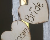Bride and Groom Chair Signs Rustic Photo Props