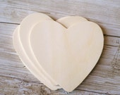 25 Thin Wood Hearts Wedding Favor Tags Place Card Setting Name Cards DIY Product (Item Number 140255)