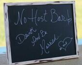 12x16 custom Distressed Barn Wood Style Chalkboard Sign Frame