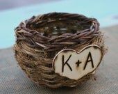 Love Birds Bird Nest Basket Personalized (item B10549)