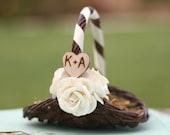 Small Flower Girl Basket Personalized Wedding Decor Mini Basket VERY small