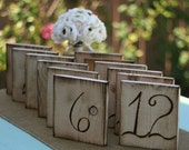 Wood Table Numbers Rustic Wedding Chic (item E10116)