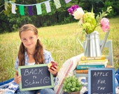 Rustic Chic Chalkboard Sign Kids Family Photo Prop (item P10393)