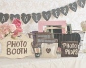 Wedding Photo Booth Props Collection Rustic Distressed Chalkboards (item P10212)