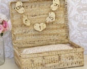 Baby Infant Photo Prop Basket With Personalized Sign Rustic Shabby Chic