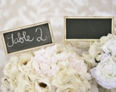 Chalkboard Signs Table Numbers Wedding Rustic Decor SET of 4 (item P10154)