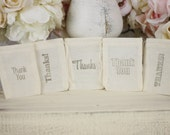 Wedding Favor Bags Thank You Rustic Shabby Chic Candy Bags Dessert Bar SET of 50