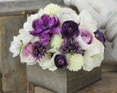 Wedding Centerpiece Arrangement Silk Flowers Rustic Chic Wedding Decor