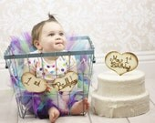 First Birthday Cake Topper Rustic Decor