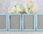 Wedding Frames 5x7 Vintage Inspired Shabby Wedding Decor SET of 4 (item P10196)