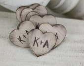 Personalized Rustic Wood Wedding Favors SET OF 50 (item P10023)