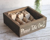 Rustic Wedding Favors Wood Heart Magnets Vintage Inspired Shabby Chic - braggingbags