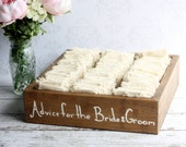 Rustic Guest Book Box Advice For The Bride and Groom Wood Hearts Shabby Chic Wedding