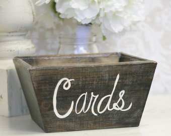 Rustic Wedding Card Box Vintage Inspired Decor (item P10237)