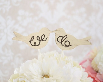 Wedding Cake Topper Love Birds Shabby Chic Wedding Decor (Item Number MMHDSR10017)