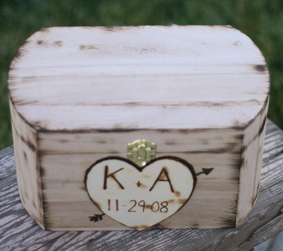 Vintage Wedding Car Keepsake In Gift Box In 2019: Personalized Carved Wood Wedding Card Box And By Braggingbags
