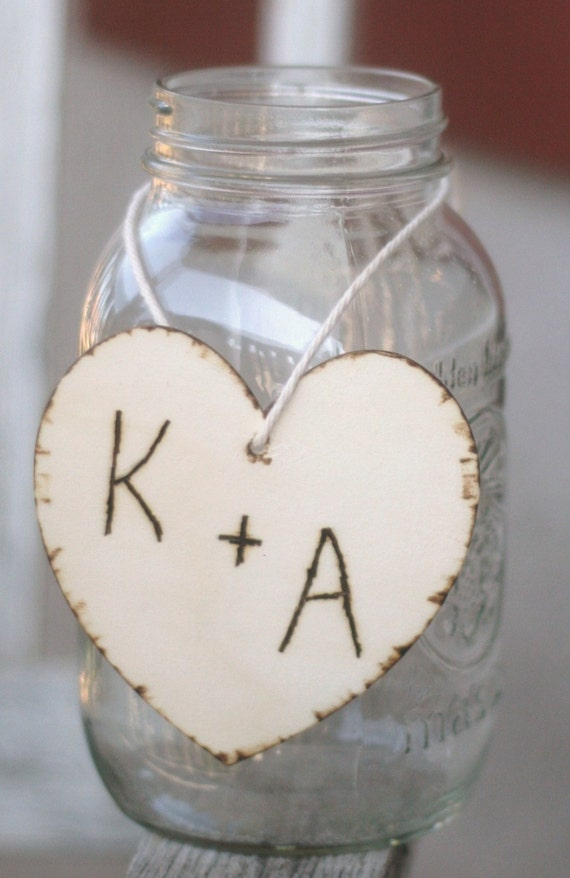 Items similar to wedding centerpiece charm wood heart with