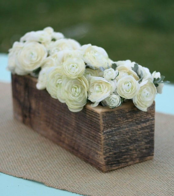 items similar to barn wood vase planter centerpiece flower