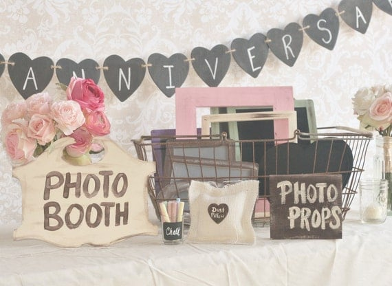 Wedding Photography Props: Items Similar To Wedding Photo Booth Props Collection