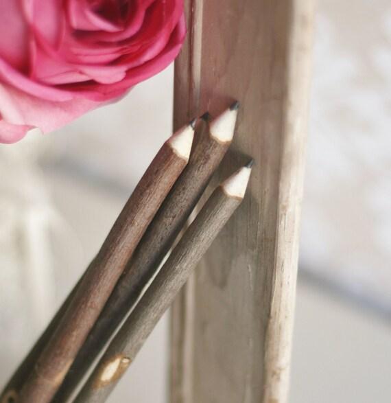 Rustic Guest Book Pencil Vintage Wedding Decor (item M10537)