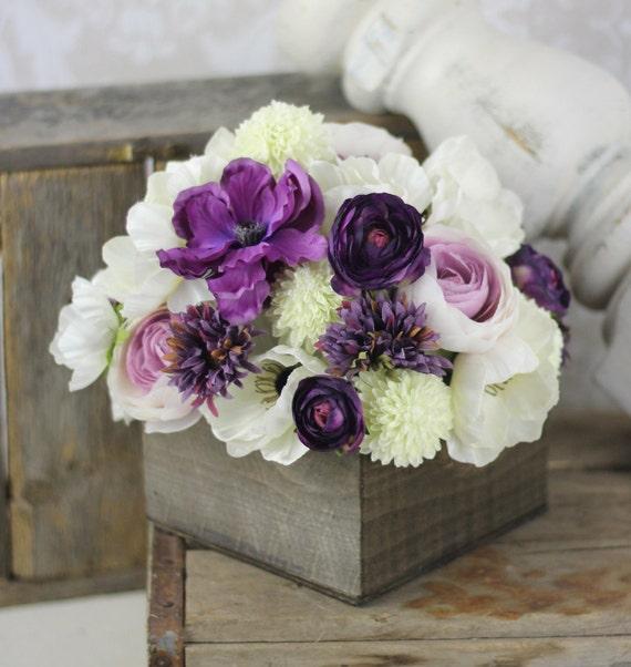 Items Similar To Wedding Centerpiece Arrangement Silk