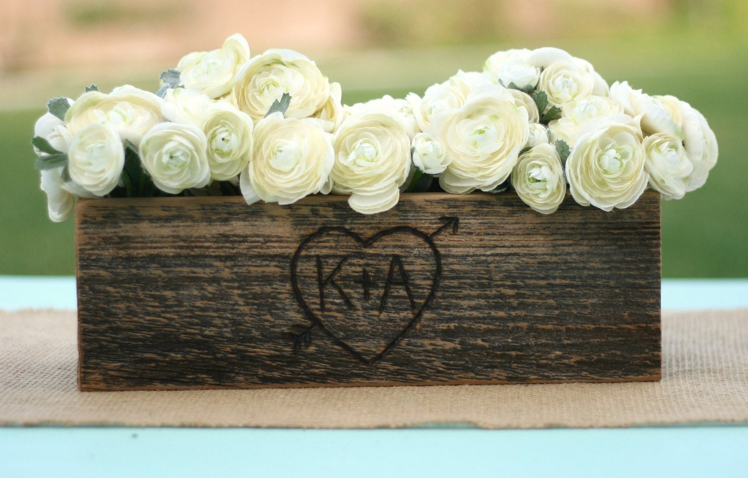 Barn Wood Rustic Vase Centerpiece Personalized By Braggingbags