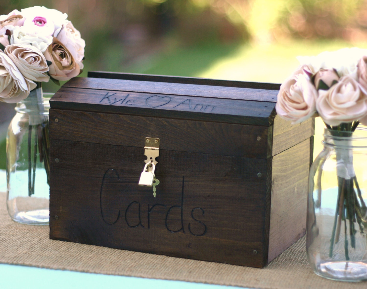 Fall Wedding Gift Card Box : Request a custom order and have something made just for you.