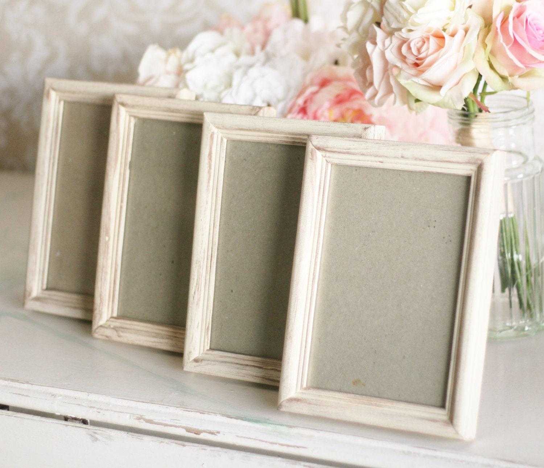 Rustic Wedding Frames 5x7Shabby Wedding Decor SET By Braggingbags