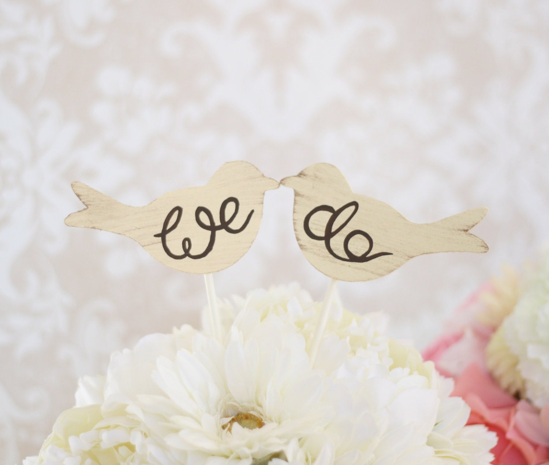 Wedding Cake Topper Love Birds Shabby Chic Wedding By Braggingbags