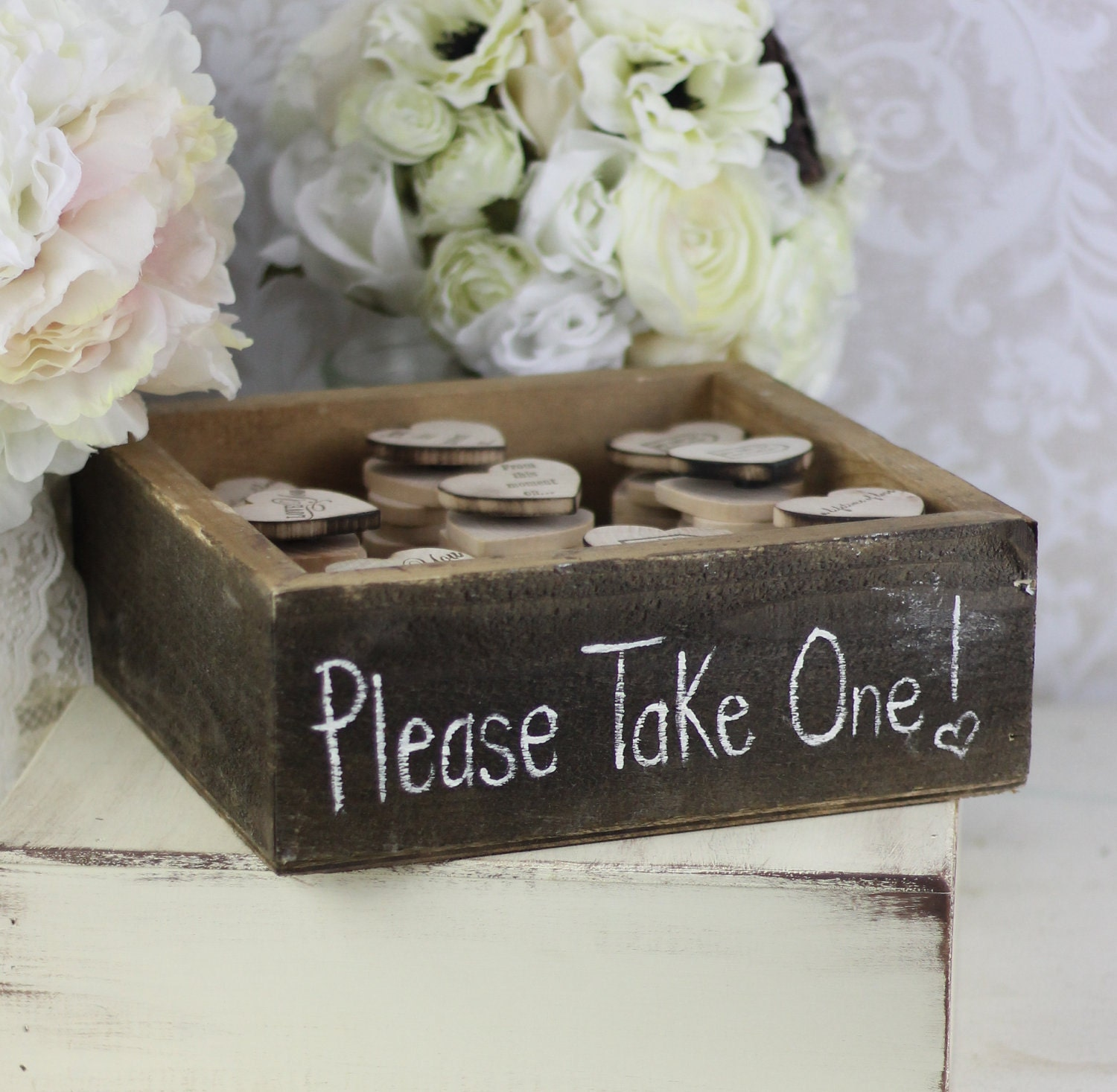 Wedding favors wood heart magnets inside rustic by for Wedding favor supplies