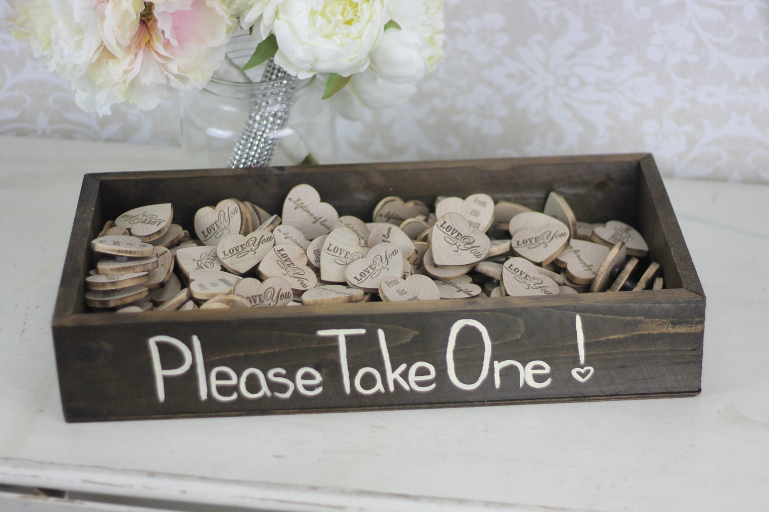 rustic wedding favors wood heart magnets inside by braggingbags