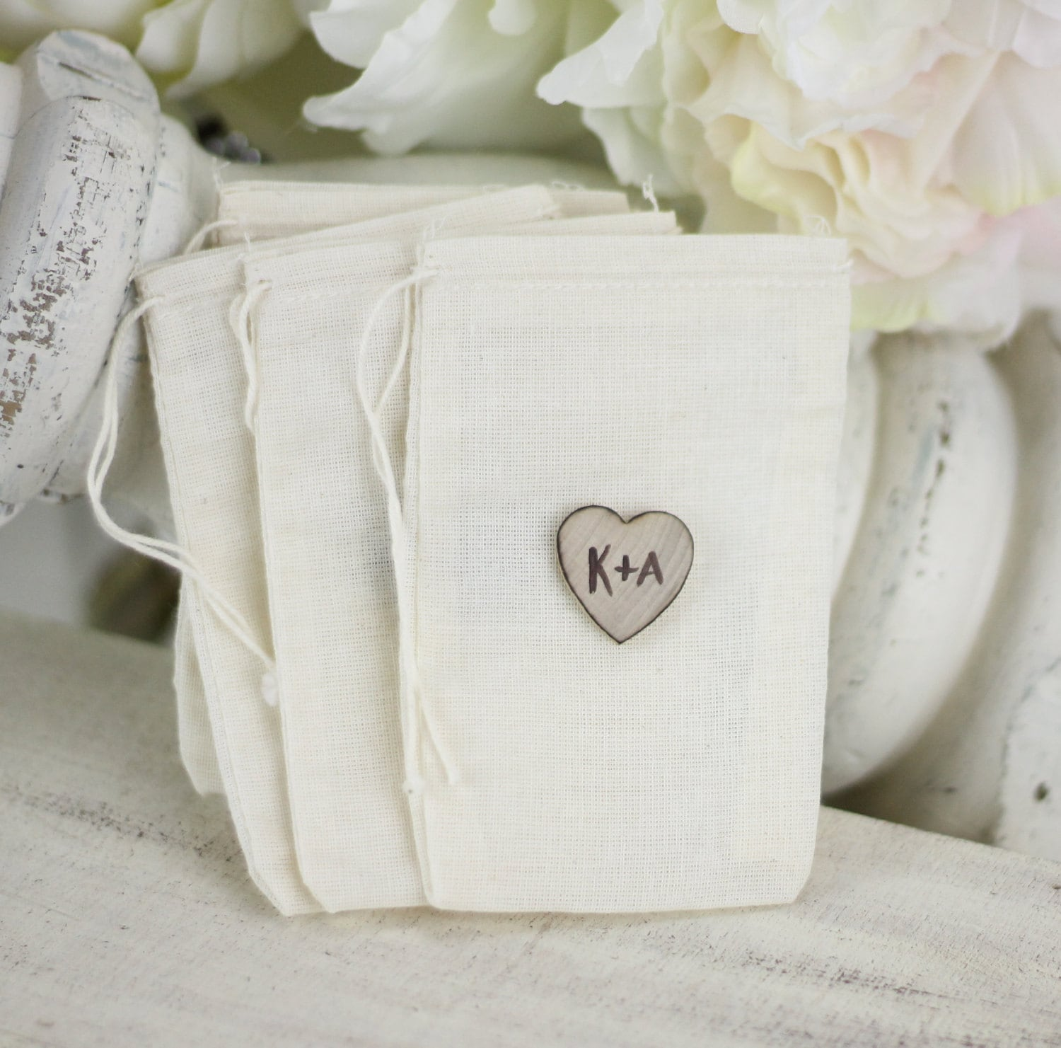 Items Similar To Personalized Wedding Favor Bags Rustic