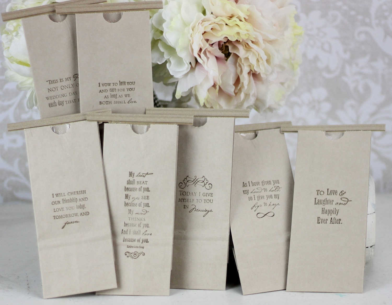 Wedding Favor Bags For Candy : Wedding Favor Bags Kraft Paper Candy Cookies by braggingbags